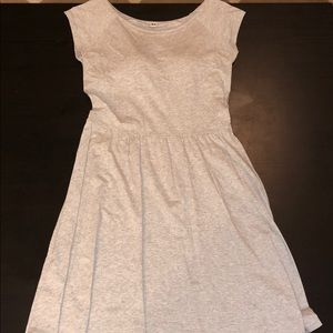 Uniqlo gray cotton A-line dress
